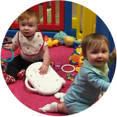 6 wks – 12 mo Our infant program encourages infant exploration which promotes cognitive, physical, social, emotional and language development in a friendly, warm, safe and nurturing environment.